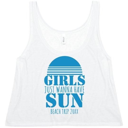 Custom Event Girls Wanna Have Sun Tank Top