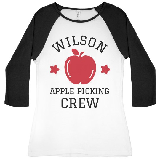 Custom Family Apple Picking Shirts