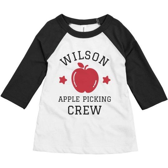 Custom Family Apple Picking Shirts