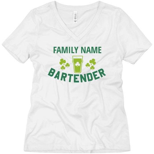 Custom Family Bartender Top
