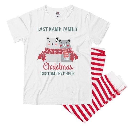 Custom Family Bear Christmas Pajamas