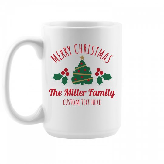 Custom Family Christmas Mugs