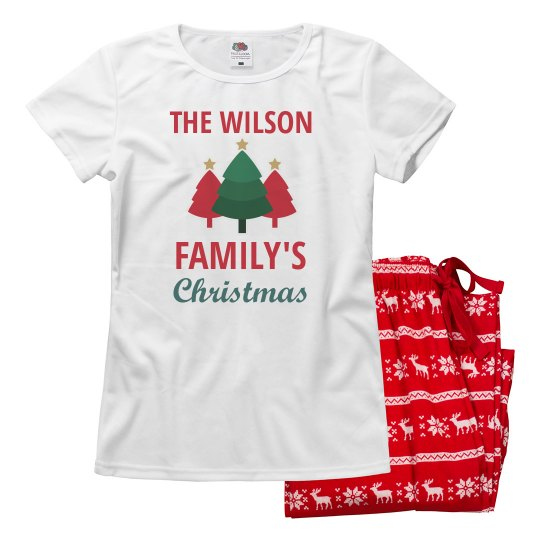 Custom Family Christmas Pajama Sets