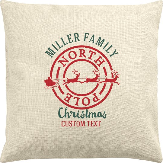 Custom Family Christmas Pillow Case