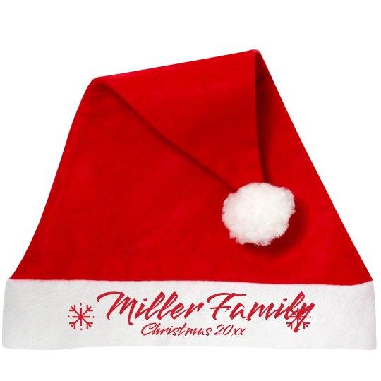 Custom Family Christmas Santa Hats