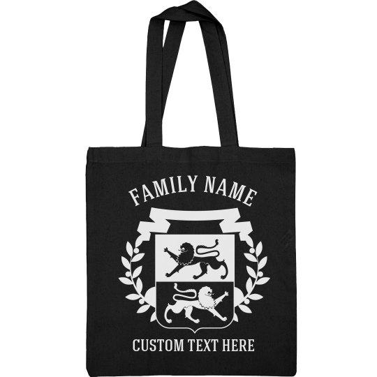 Custom Family Crest & Name Tote Bags