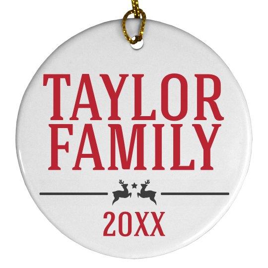 Custom Family Date Ornament