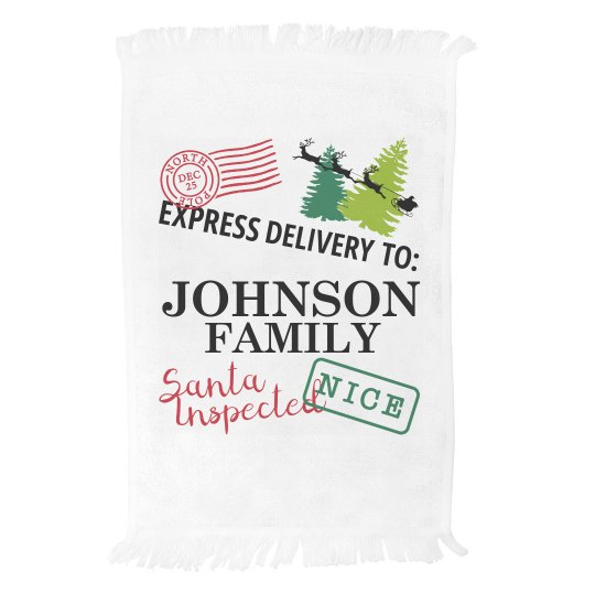 Custom Family Delivery Towel