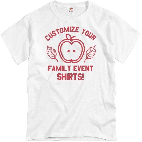 Custom Family Fall Event Text