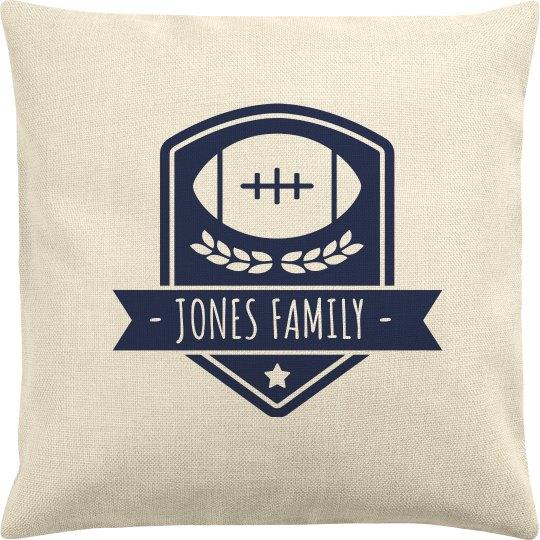 Custom Family Football Pillow Case