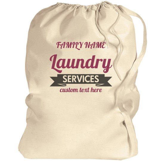 Custom Family Funny Laundry Service Bag