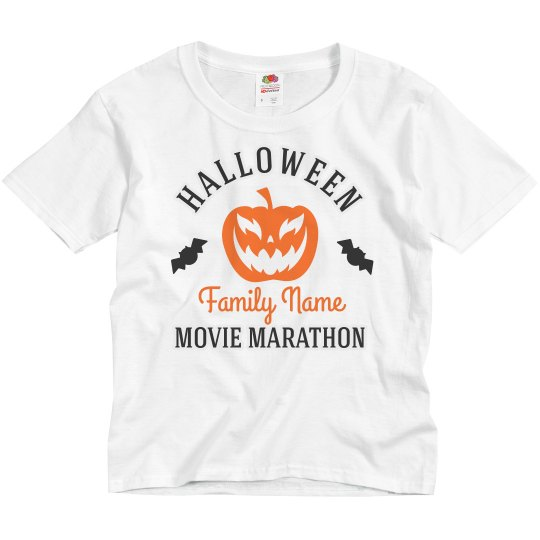 Custom Family Halloween Movie Marathon
