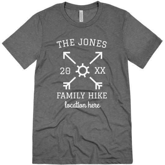 Custom Family Hiking Trip Tees