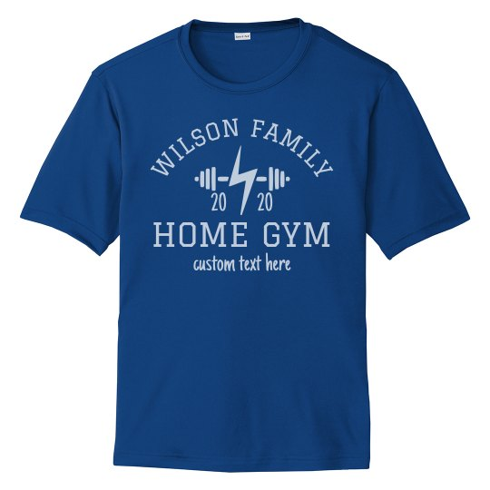 Custom Family Home Gym Workout Tees