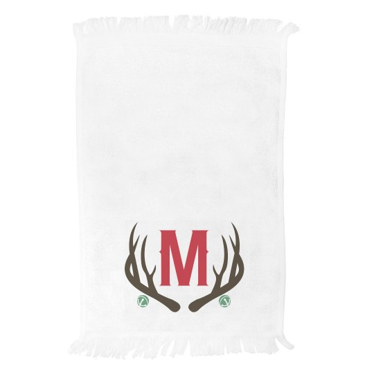 Custom Family Initial Holiday Towel