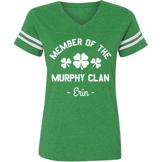 Custom Family Irish Clan