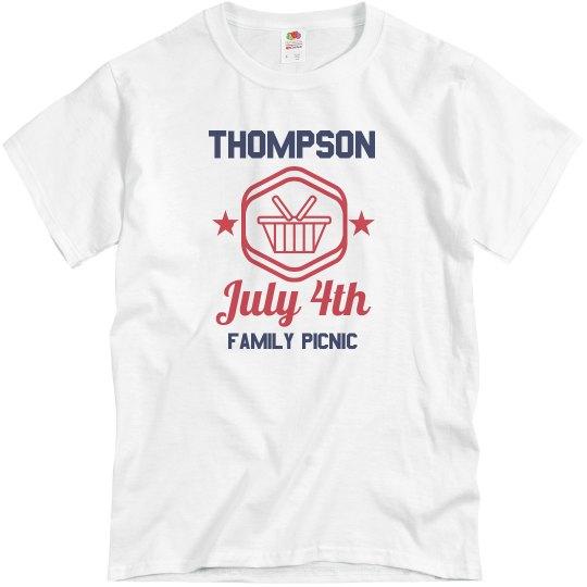 Custom Family July 4th Reunion Tee