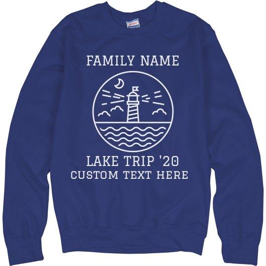 Custom Family Lake Trip Sweatshirt