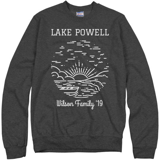 Custom Family Lake Trip Vacation Sweatshirt
