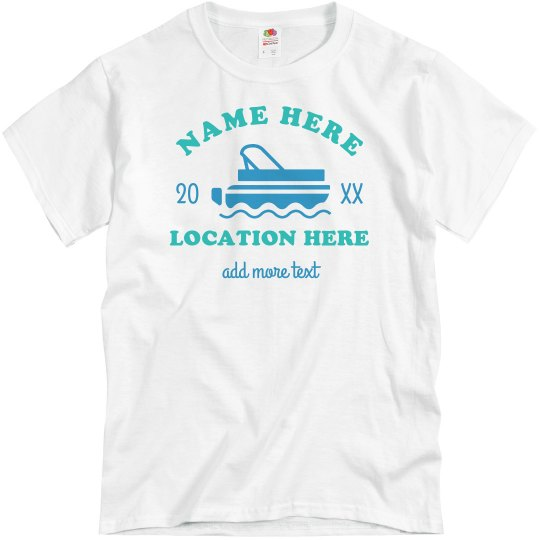 Custom Family Lake Vacation Group Tees
