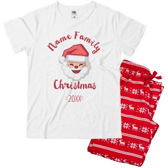 Custom Family Matching Santa Pajamas