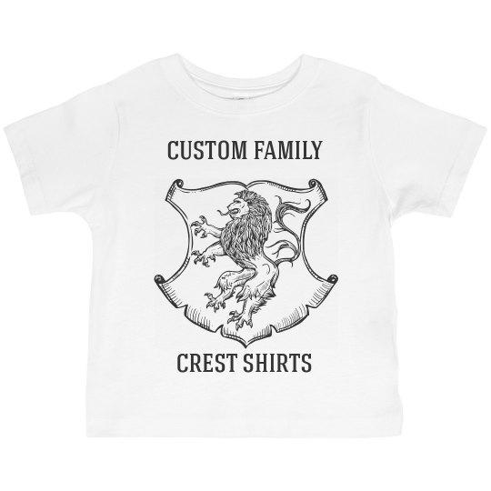 Custom Family Name & Crest Toddler Tees