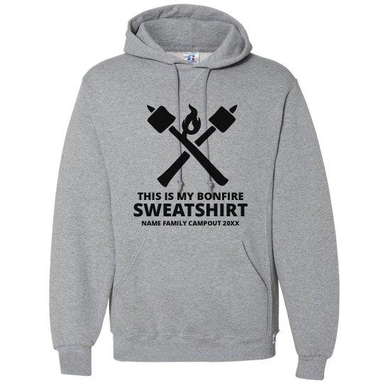 Custom Family Name Bonfire Hooded Sweatshirt