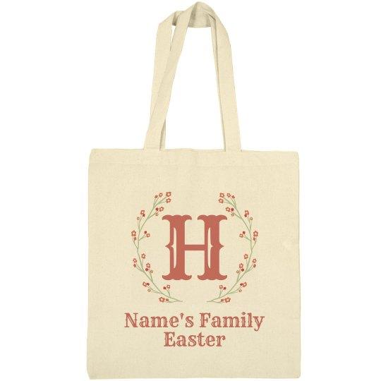 Custom Family Name Easter Tote