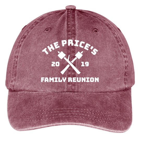 Custom Family Name Family Reunion Group Hats