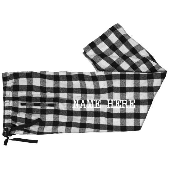 Custom Family Name Jammie Pants