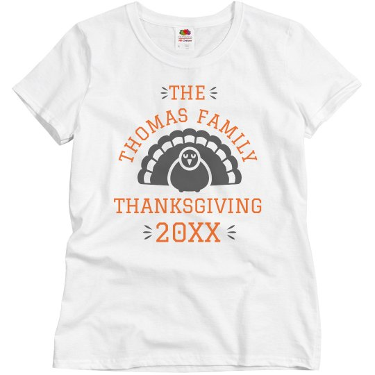 Custom Family Name Thanksgiving Tee