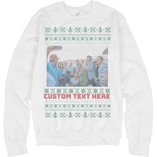 Custom Family Photo Knit Style Sweater