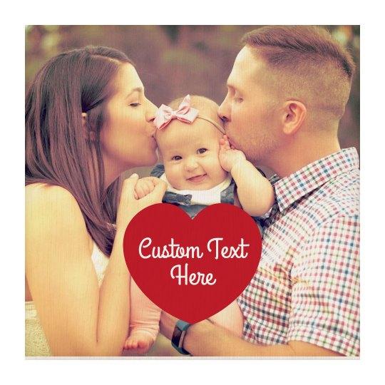 Custom Family Photo Wood Board Art