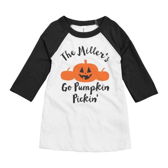 Custom Family Pumpkin Picking Event