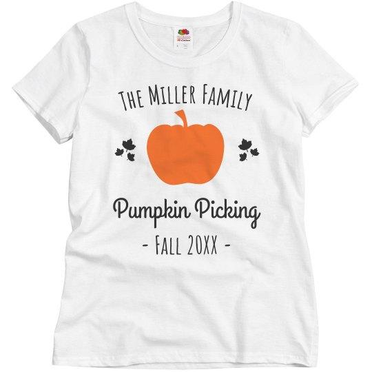 Custom Family Pumpkin Picking