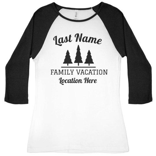 Custom Family Vacation Raglan Tees