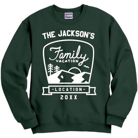 Custom Family Vacation Sweatshirts