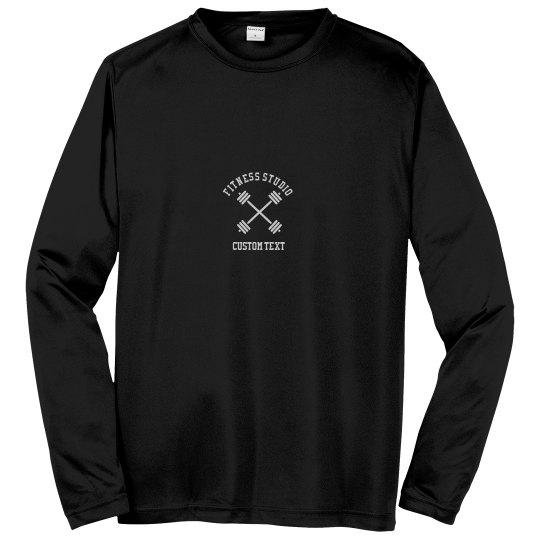 Custom Fitness Studio Long Sleeve Performance Shirts