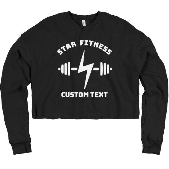 Custom Fitness Studio Workout Crop Crew