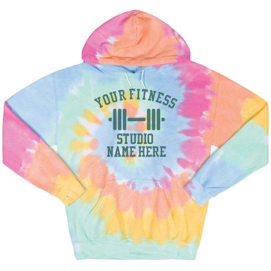 Custom Fitness Tie-Dye Hoodie