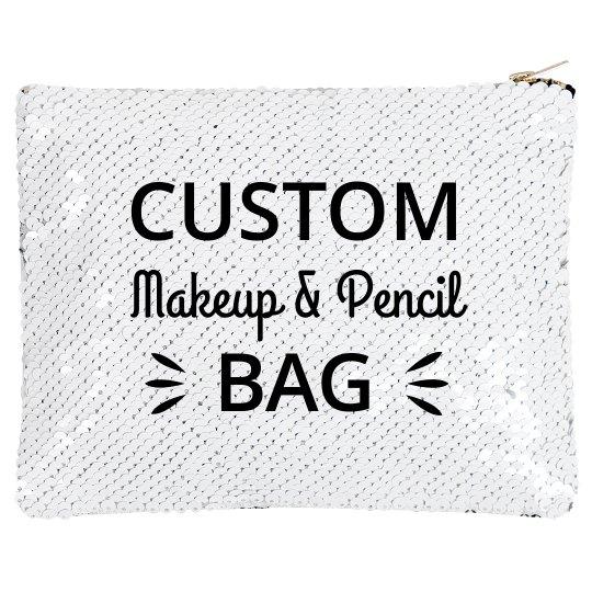 Custom Flip Makeup Zip