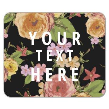 Custom Floral Mousepad