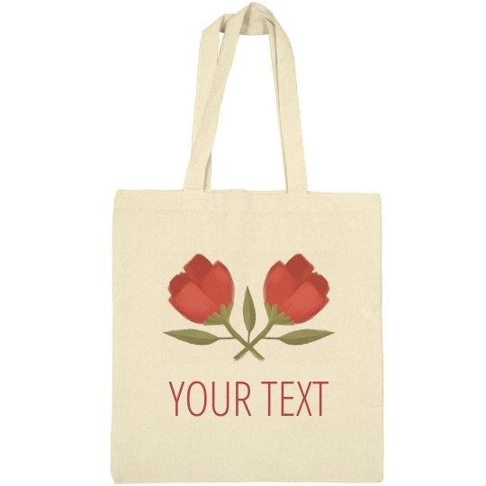 Custom Floral Spring Easter Bag