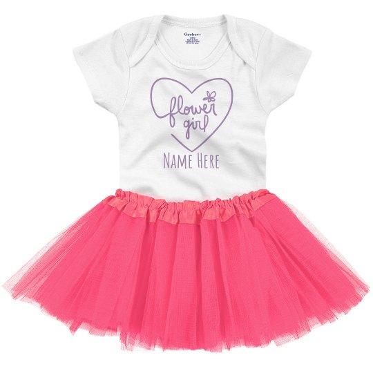 Custom Flower Girl Tutu Set For Baby