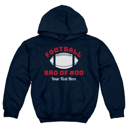 Custom Football Bro Text Hoodie