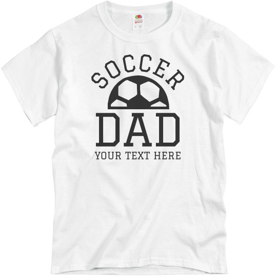 Custom Football Dad Text