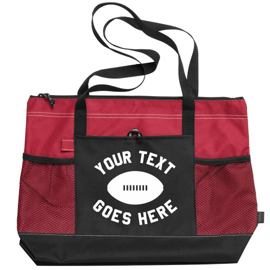 Custom Football Design Tote Bag