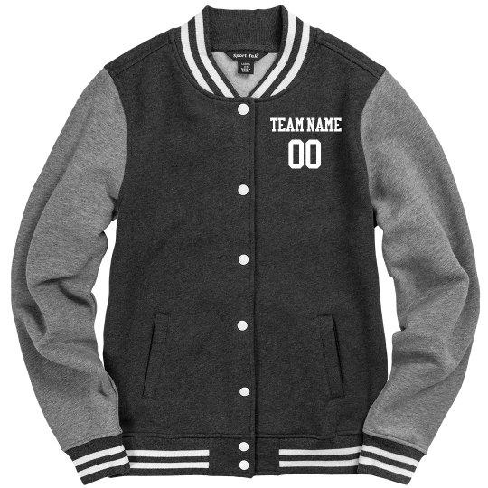 Custom Football Fan Team Number Jacket