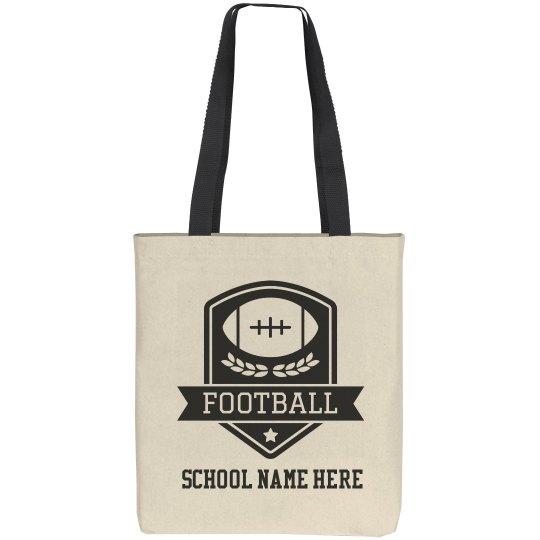 Custom Football Game Day Tote Bag