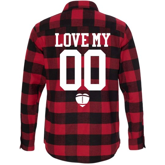 Custom Football Girlfriend Fall Fashion Flannel!